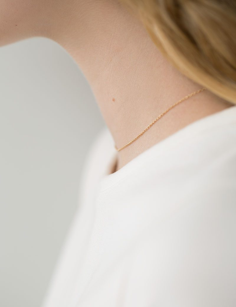 Kathleen Whitaker Chain Necklace on model3