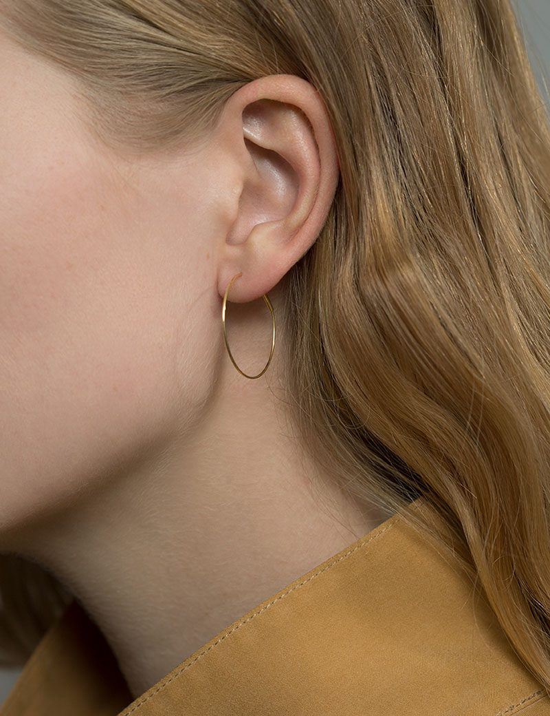 Kathleen Whitaker Small Hoop earring
