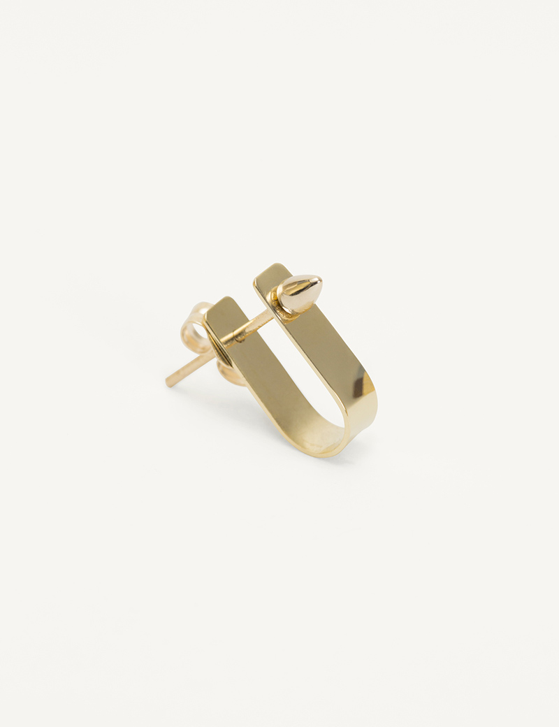 Kathleen Whitaker Small Cuff and Spike in gold