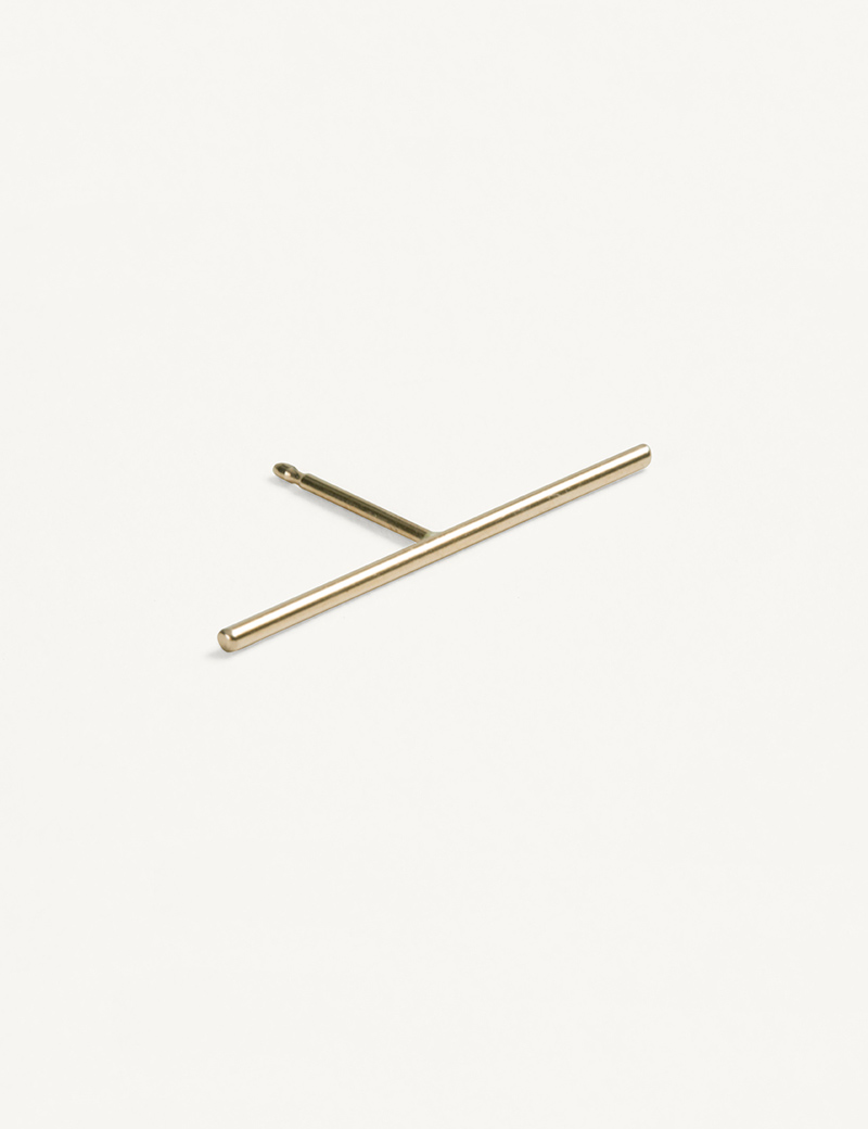 Kathleen Whitaker Stick Stud Yellow Gold