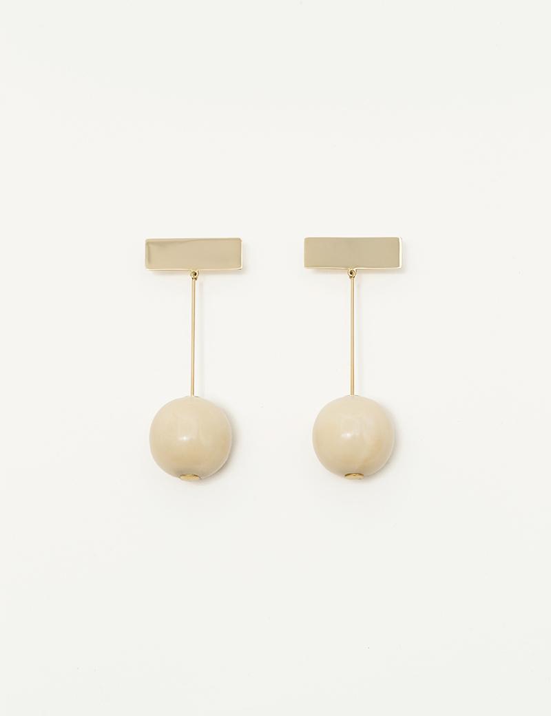 Kathleen Whitaker Vegetable Ivory Drop Earrings