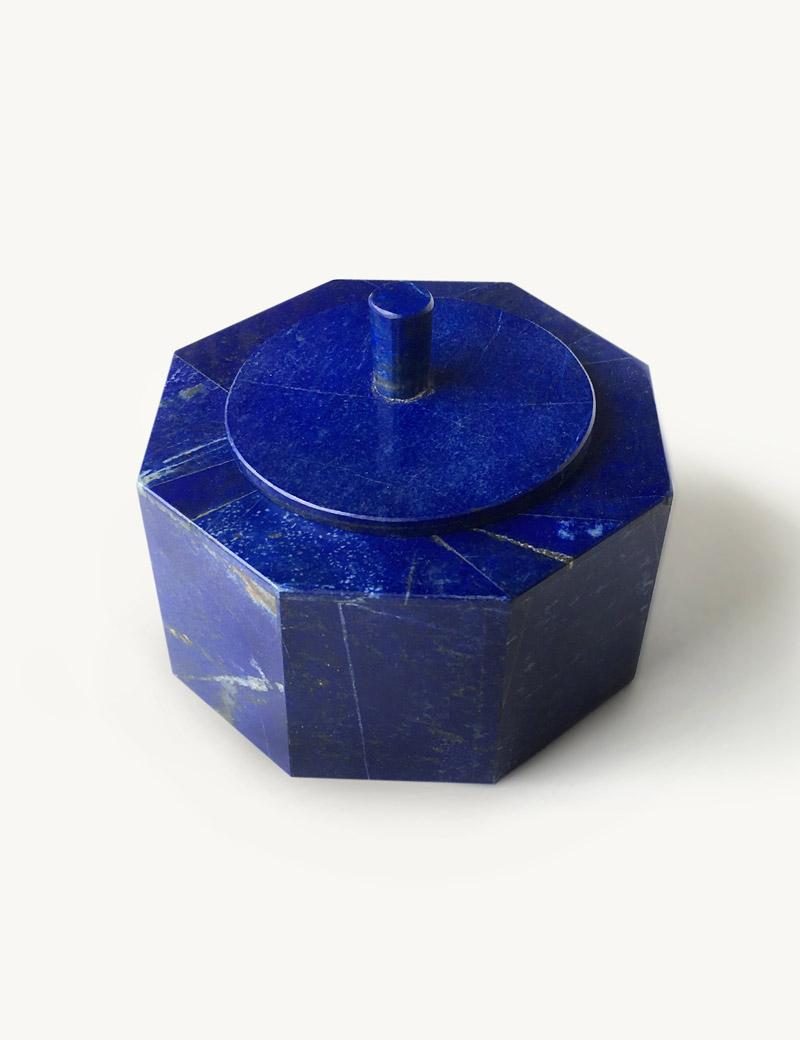 Kathleen Whitaker Octagonal Lapis Box