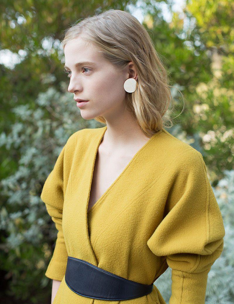 Kathleen Whitaker 33mm Sequin Stud Earring