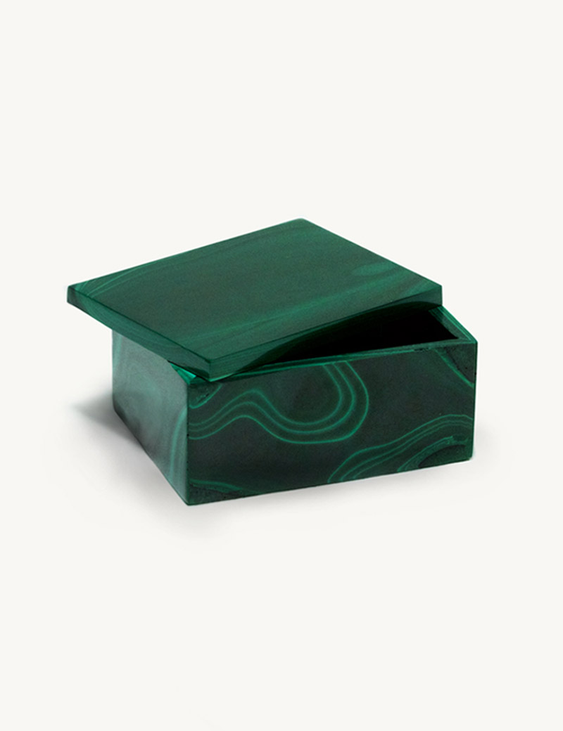 Kathleen Whitaker Malachite Gem Box Large