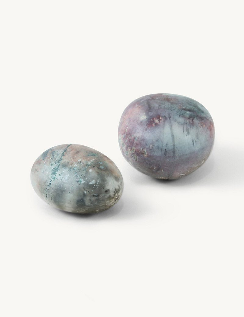 Kathleen Whitaker Medium and Small Porcelain Spheres