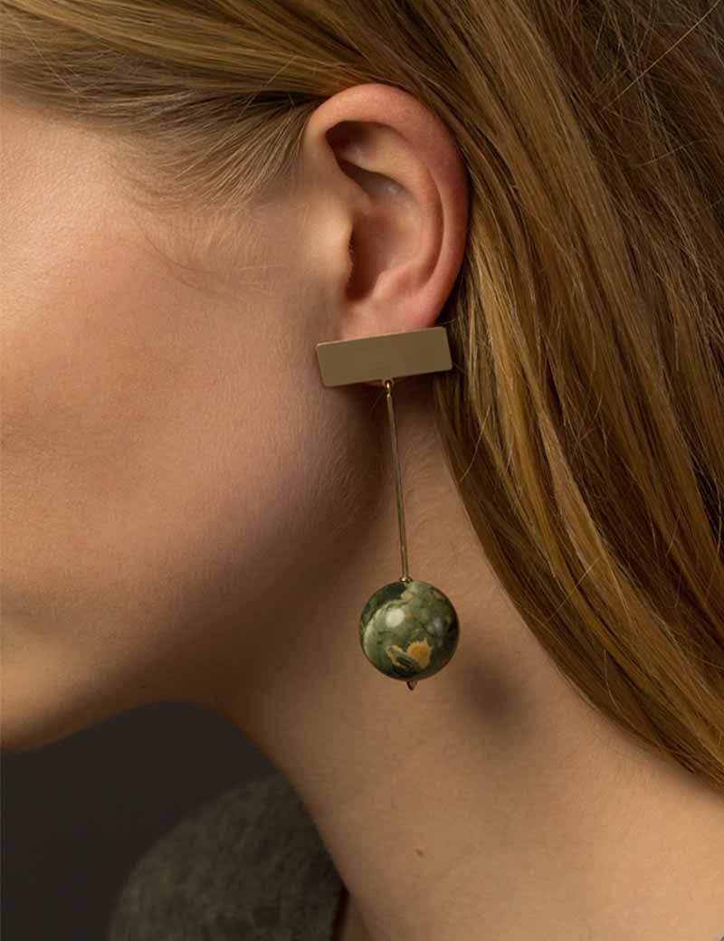Kathleen Whitaker Rhyolite Drop Earrings Model