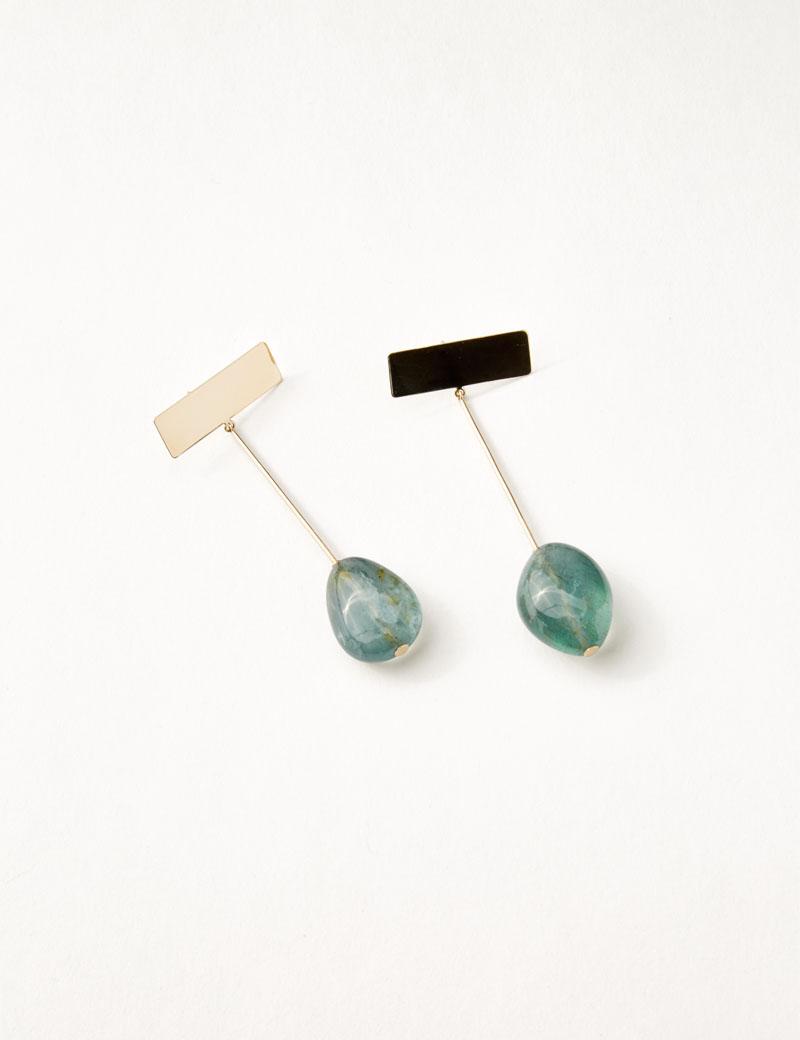 Kathleen Whitaker Moss Aquamarine Drop Earrings product
