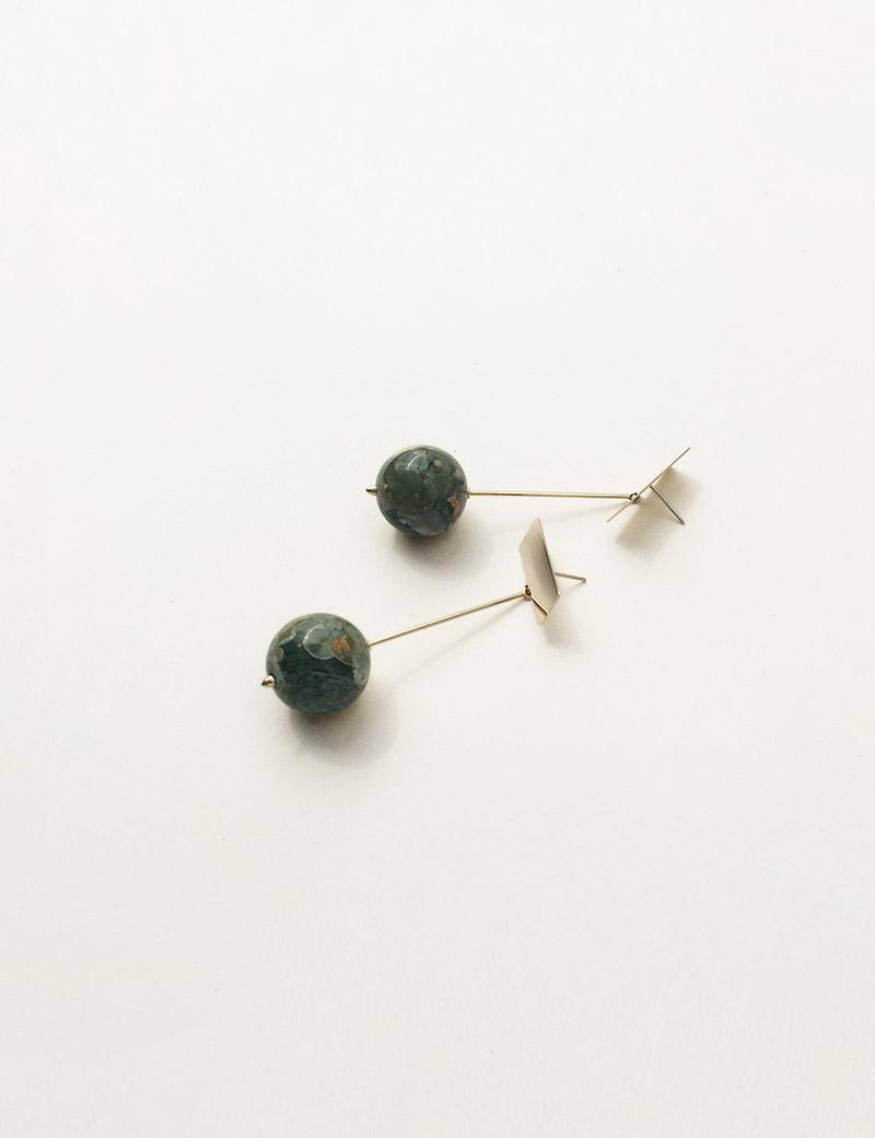 Kathleen Whitaker Rhyolite Drop Earrings