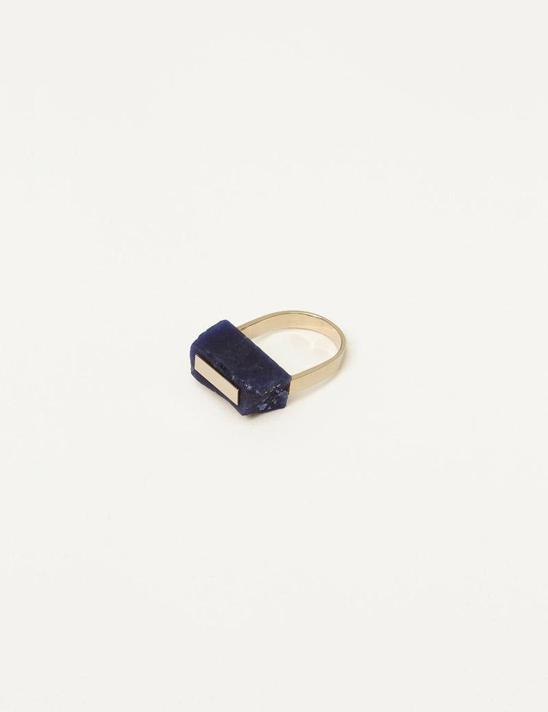 Kathleen Whitaker Rough Cut Lapis Ring