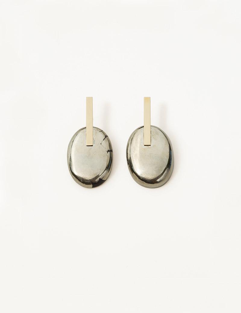 Kathleen Whitaker Small Pyrite Earrings