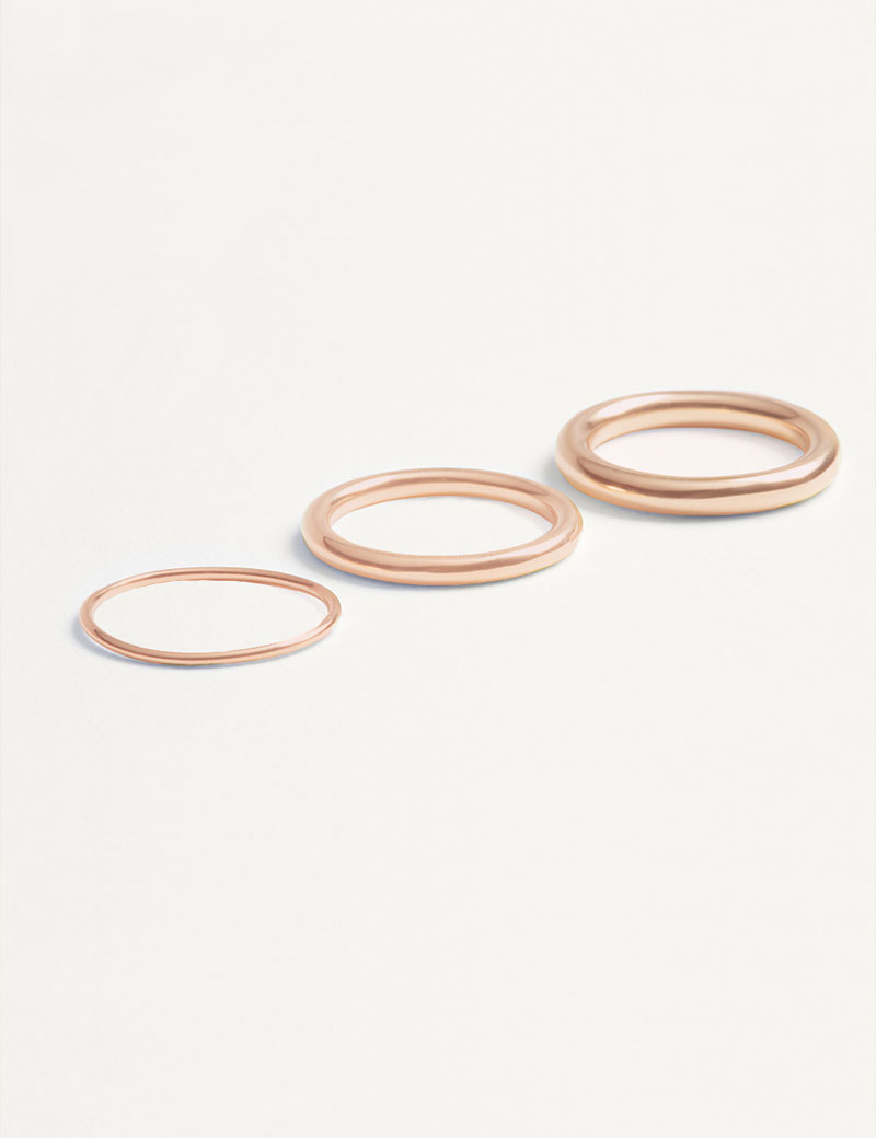 Kathleen Whitaker Rose Gold Tube Bands