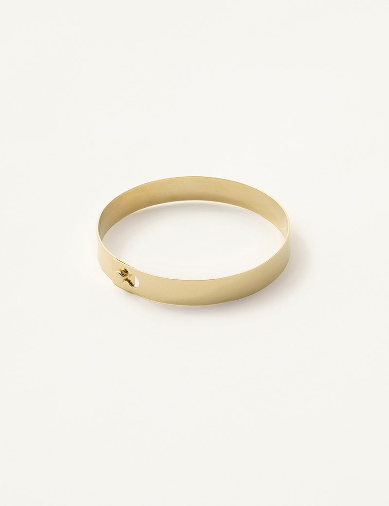 Kathleen Whitaker Flat Catch Bangle closed