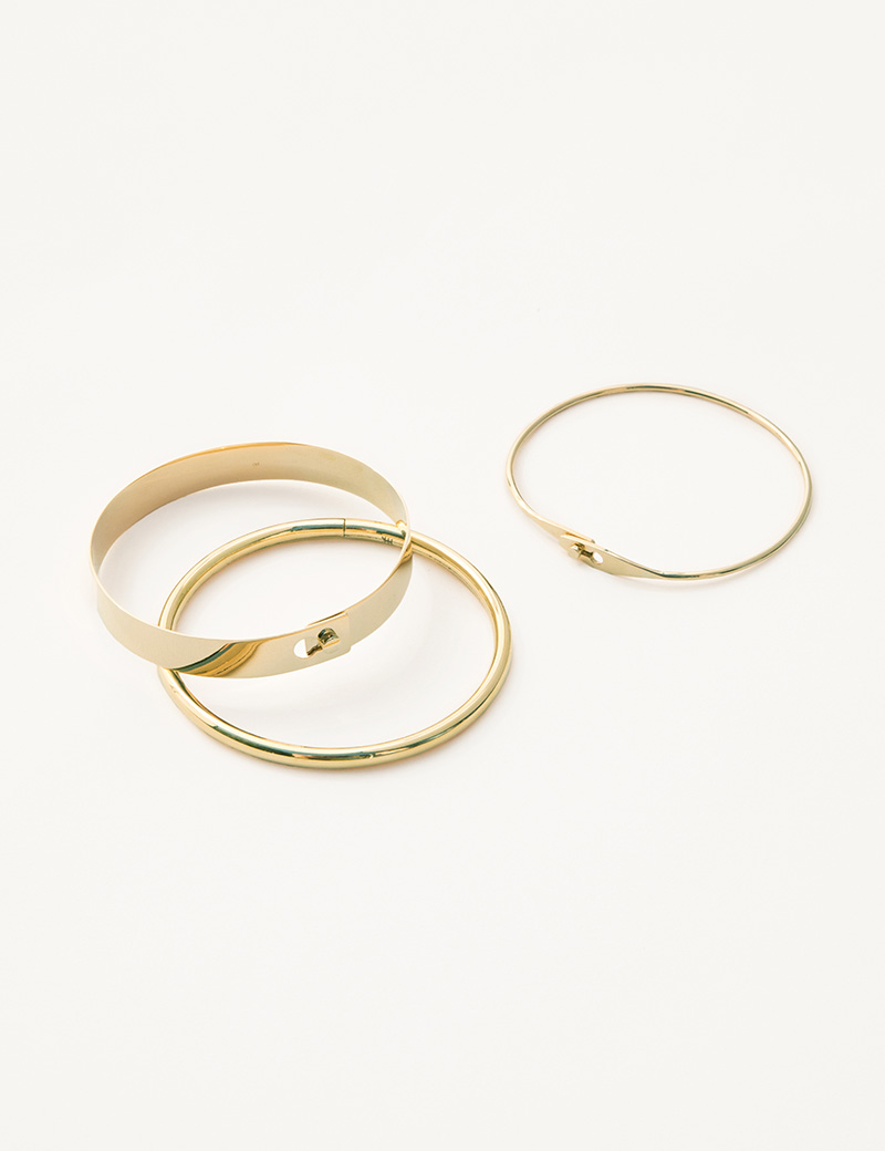 Kathleen Whitaker Flat Catch Bangle Tube Bangle and Catch Bangle
