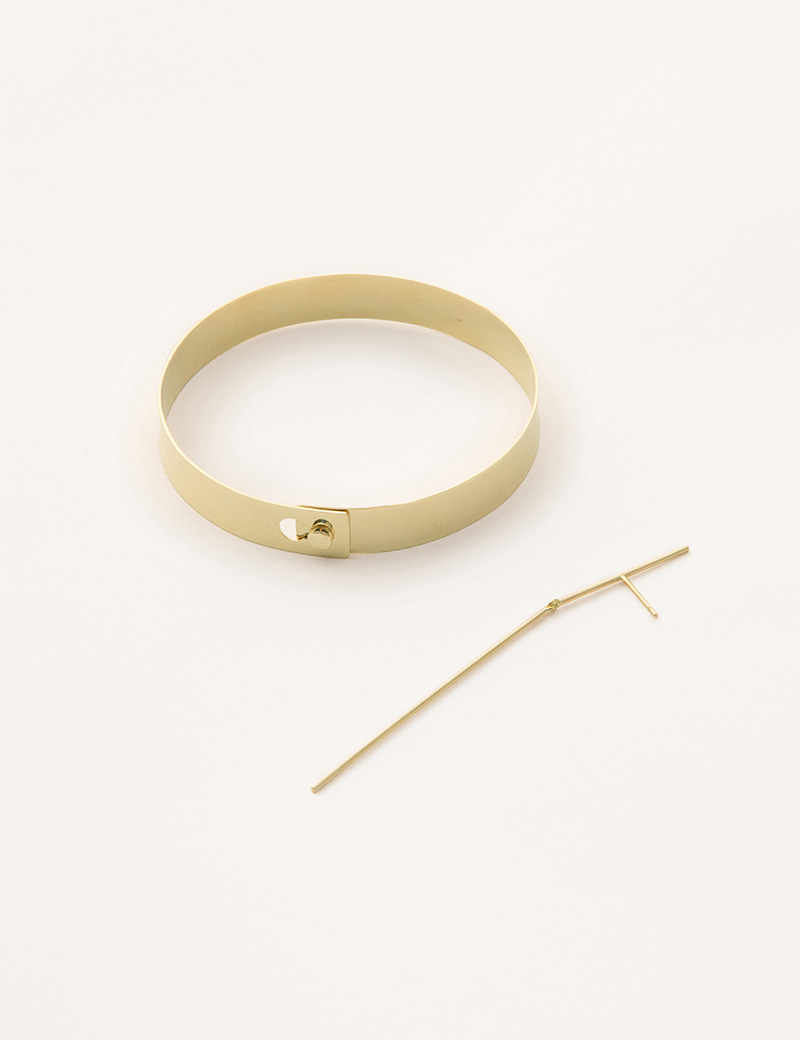 Kathleen Whitaker Flat Catch Bangle and Stick and Strand Earring