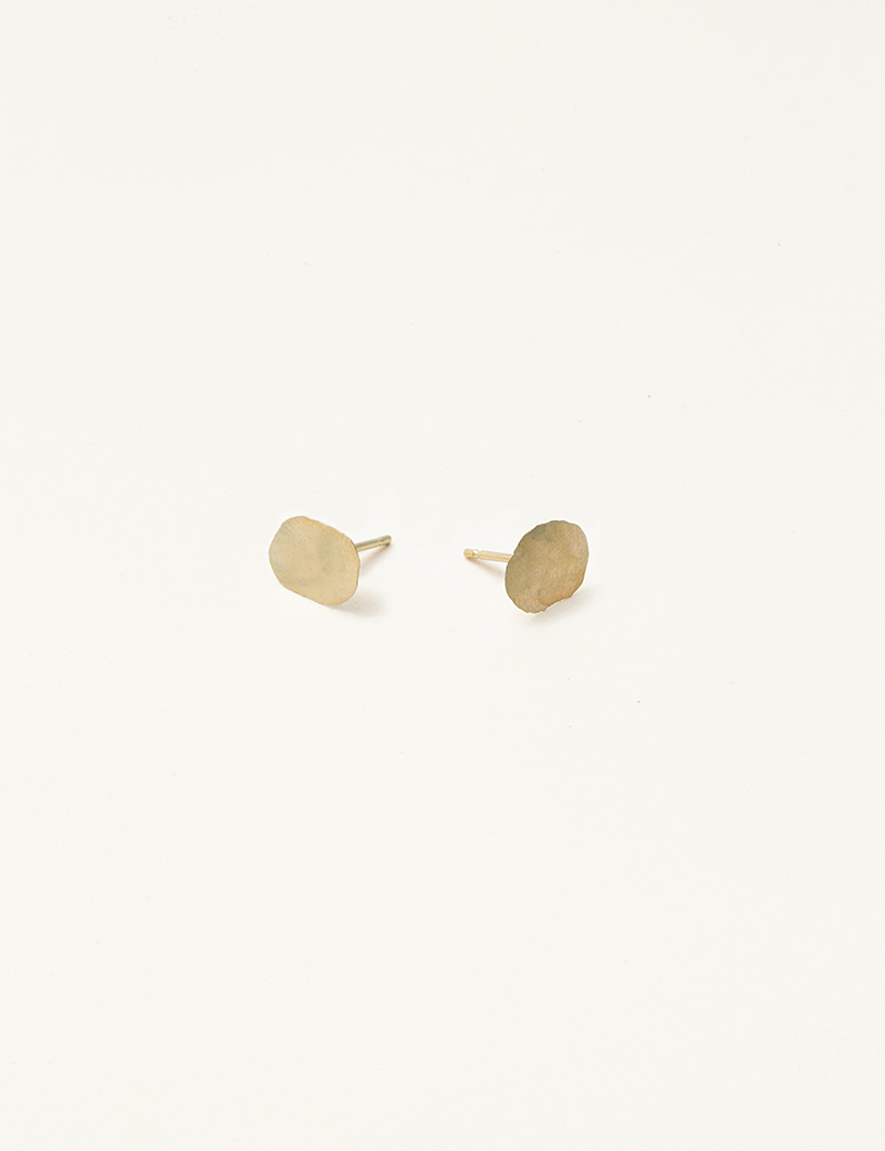 Kathleen Whitaker yellow gold Foil Studs