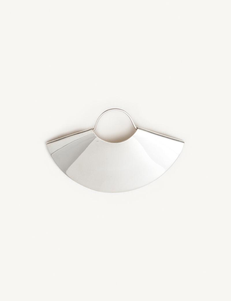 Kathleen Whitaker Large Silver Fan Earring