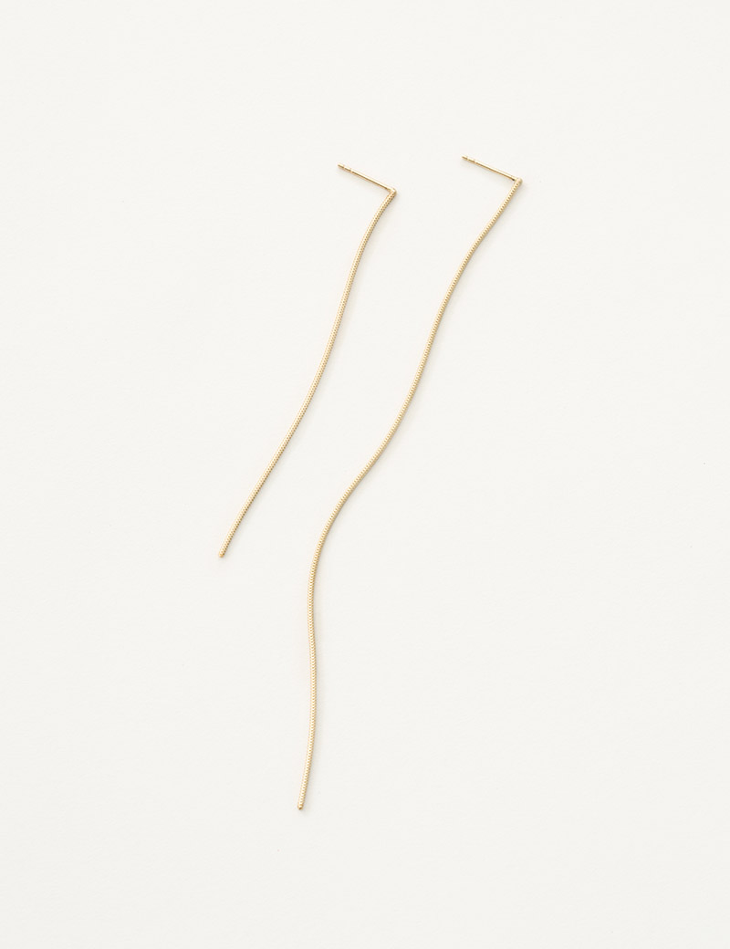 Kathleen Whitaker Snake Chain earring both lengths