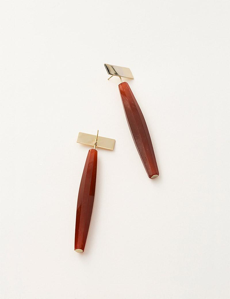Kathleen Whitaker Vintage Red Venetian Glass Earrings from Plane