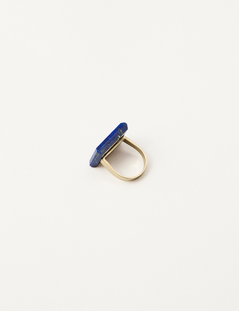 Kathleen Whitaker Square Lapis Ring 2