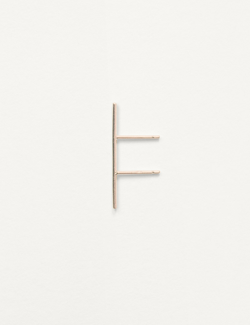 Kathleen Whitaker Double Post Stick Stud in rose gold