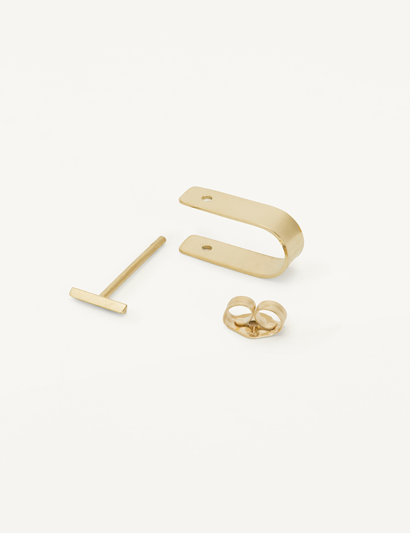 Kathleen Whitaker Small Cuff and Bevel in gold
