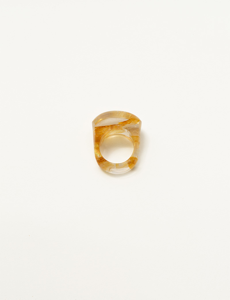Kathleen Whitaker Dendritic Quartz Rock Ring