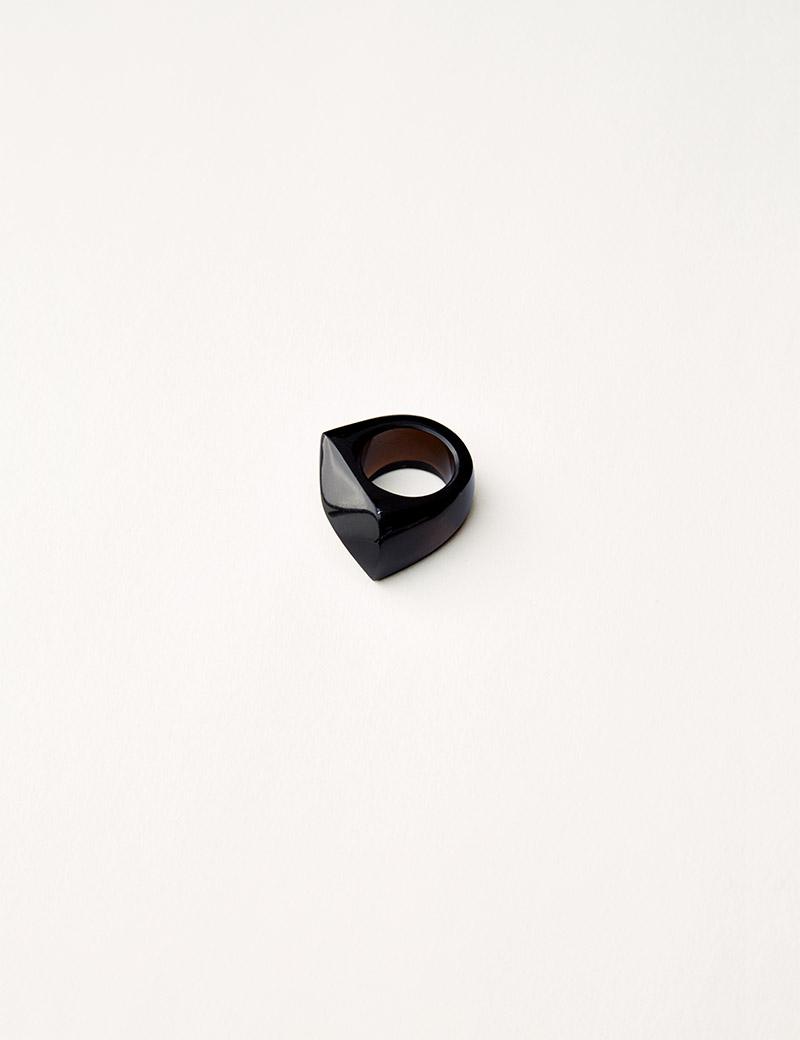 Kathleen Whitaker Smoky Quartz Rock Ring Faceted