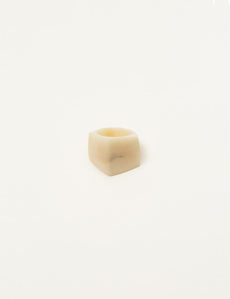 Kathleen Whitaker Vegetable Ivory Rock Ring 2