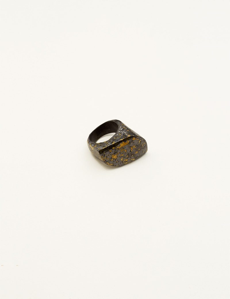 Kathleen Whitaker Hematite in Pyrite Ring