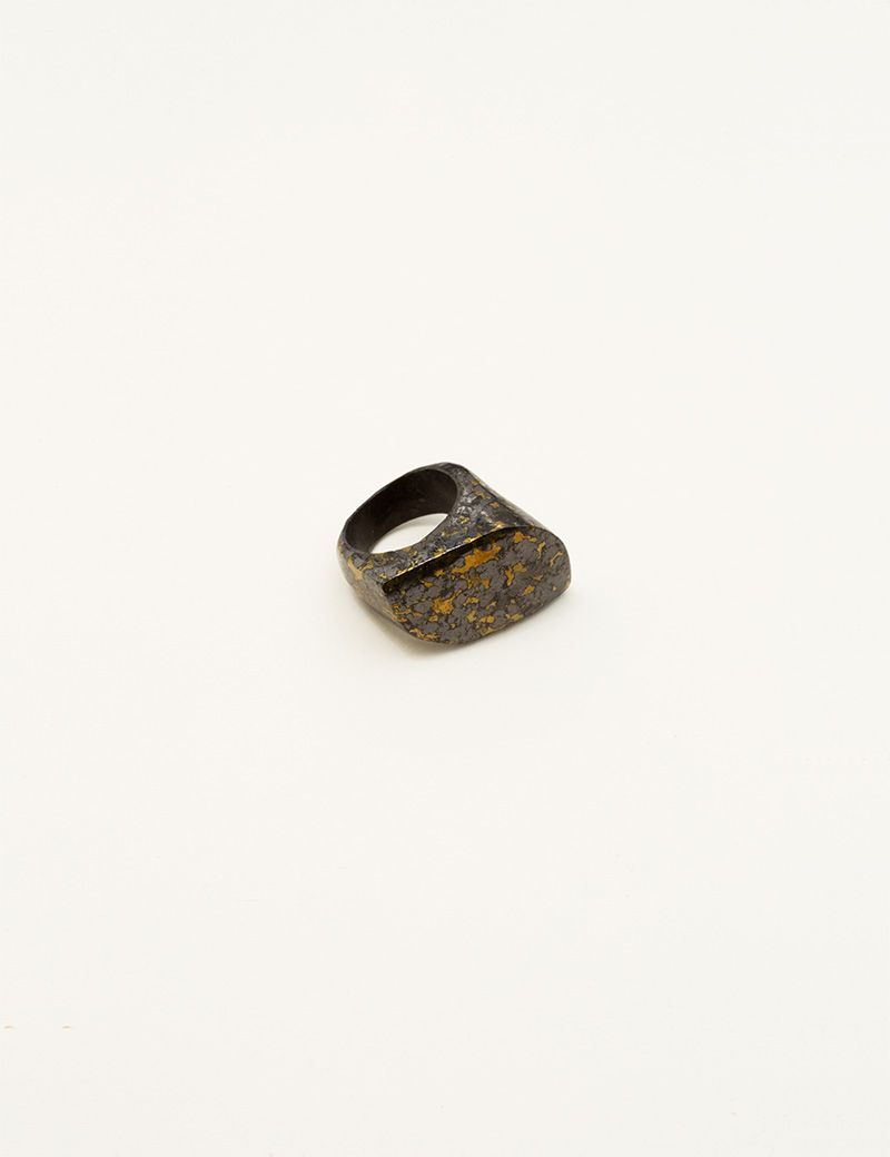 Kathleen Whitaker Hematite in Pyrite Rock Ring