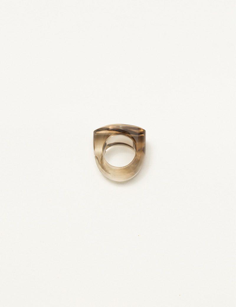 Kathleen Whitaker Smoky Quartz Rock Ring