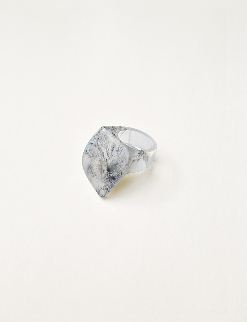 Kathleen Whitaker Dendritic Quartz Ring