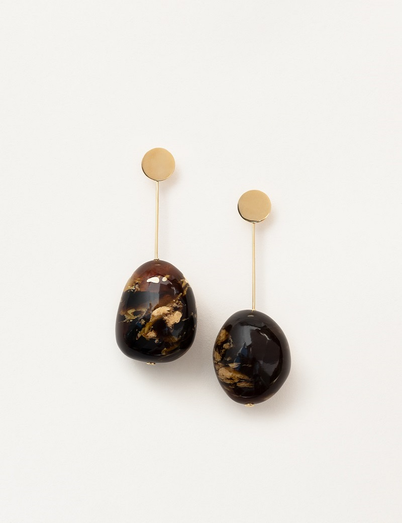 Kathleen Whitaker Amber Drop Earrings from 12mm Sequin Stud 5