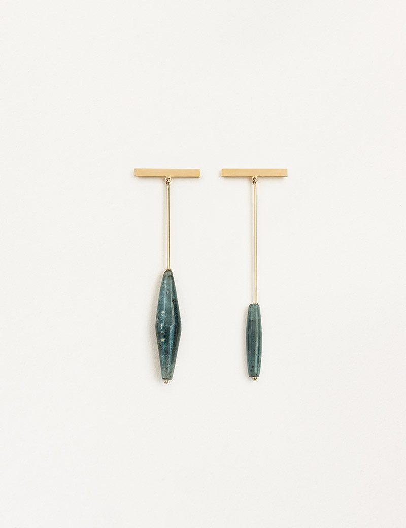 Kathleen Whitaker Asymmetrical Kyanite Earrings
