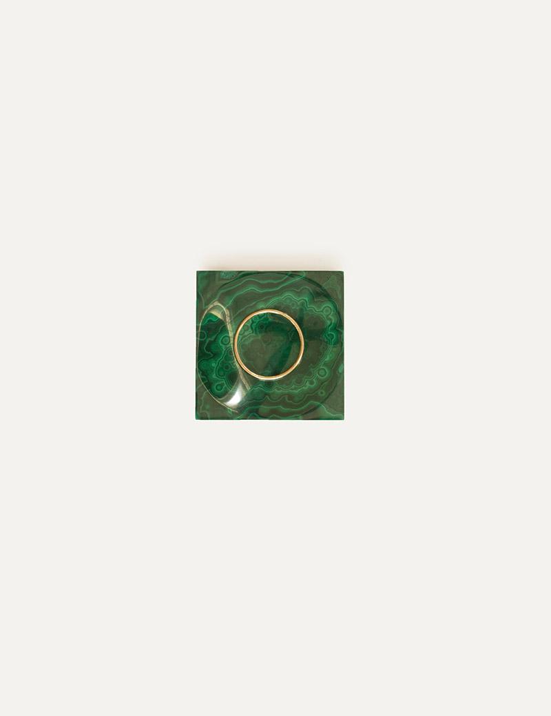 Kathleen Whitaker Gift Set Malachite Ring cup and Tube Ring