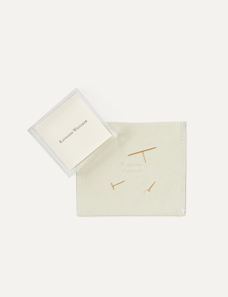 Kathleen Whitaker Gift Set Classic Stud Trio with packaging