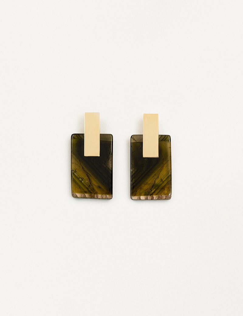 Kathleen Whitaker Tourmaline Earrings on Plane Earrings 2