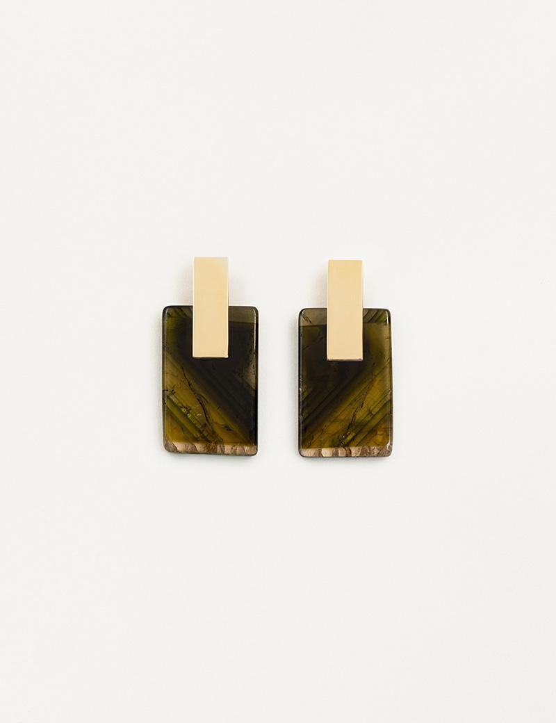 Kathleen Whitaker Tourmaline Earrings on Plane Earrings 2